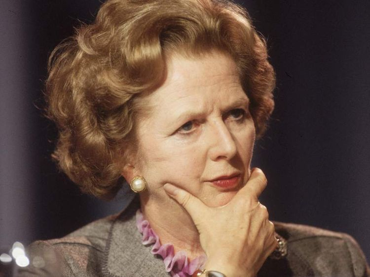 Margaret Thatcher in 1985