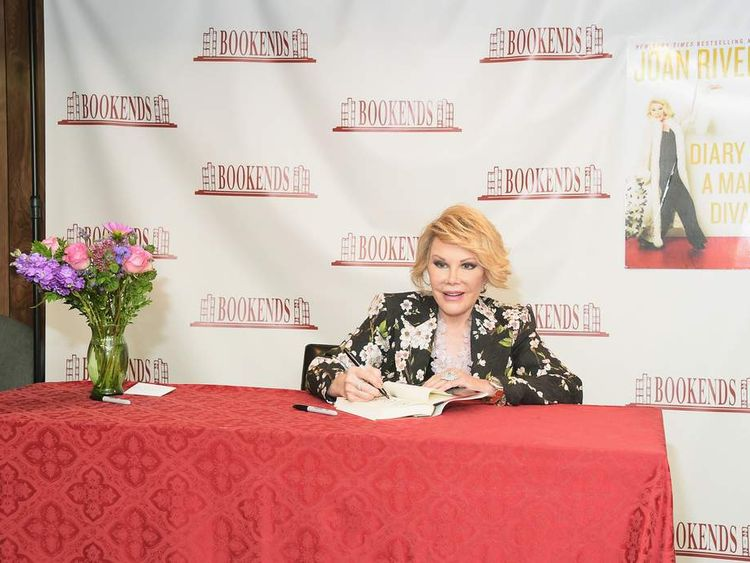 Joan Rivers Signs Copies Of Diary Of A Mad Diva