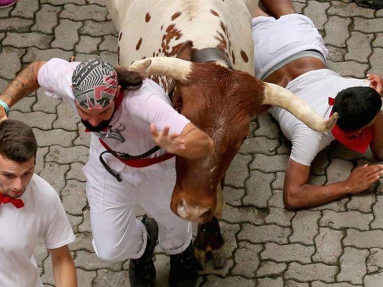 Pamplona Running Of The Bulls
