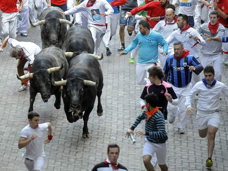 Pamplona bull run