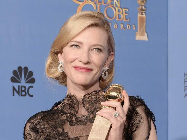 Actress Cate Blanchett With Award