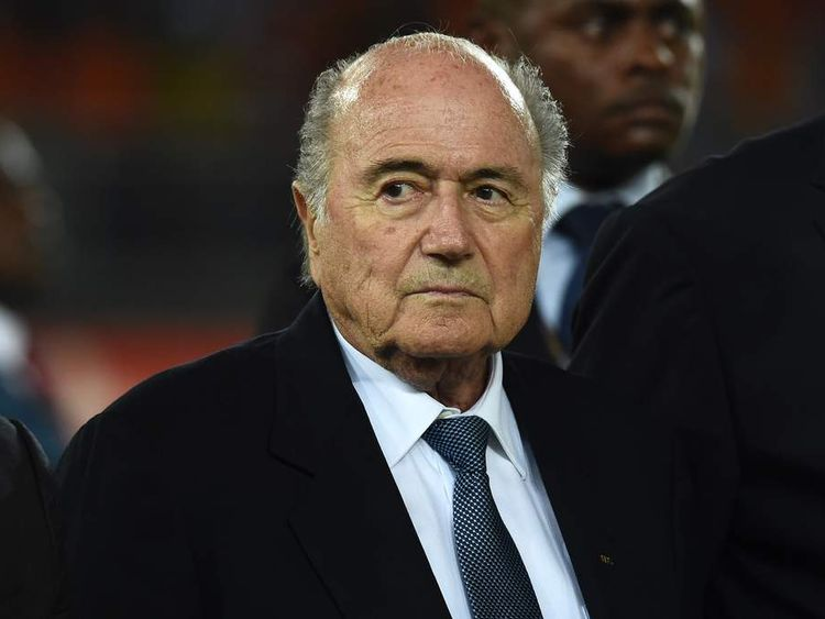 FIFA president Sepp Blatter attends the 2015 African Cup of Nations final