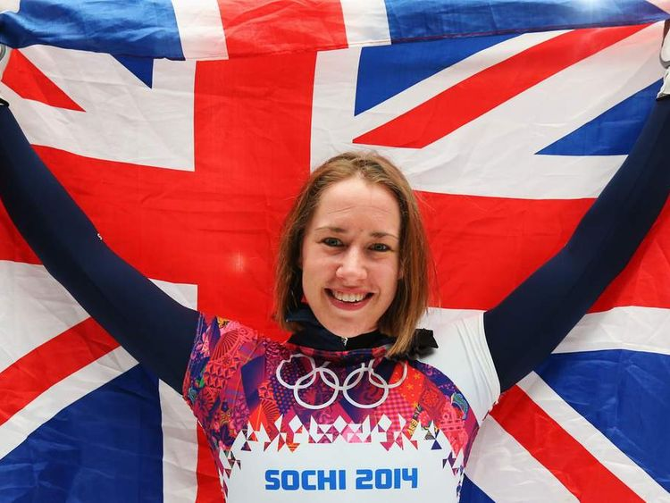 Lizzy Yarnold wins Olympic gold in skeleton event at Sochi