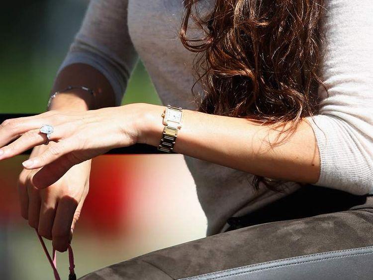 Jessica Michibata (ring detail), fiance of Jenson Button