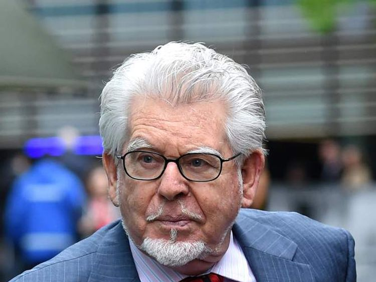 Veteran Australian artist and entertainer Rolf Harris arrives at Southwark Crown Court in central London