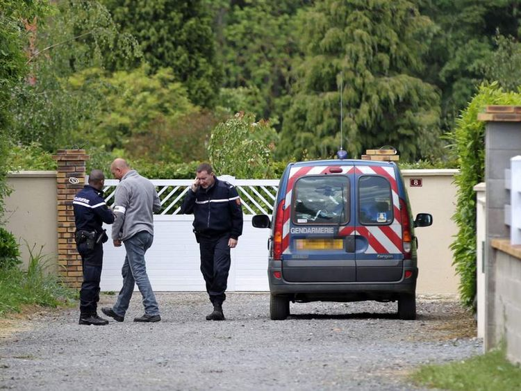 Police outside home of alleged killer of French mayor