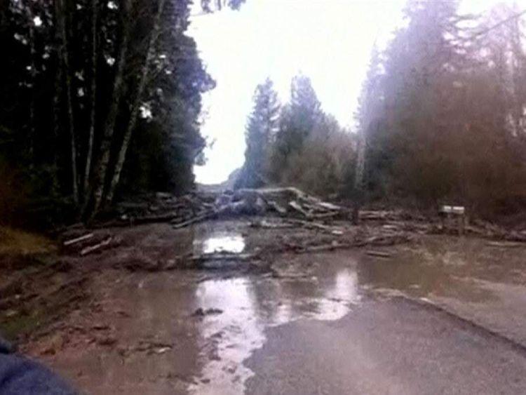 Mudslide in Washington. Pic: Washtngton State Patrol