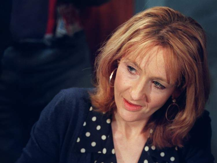 JK Rowling at a book signing in 1999