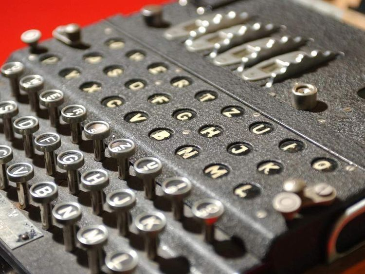 The World War II Enigma decoding machine