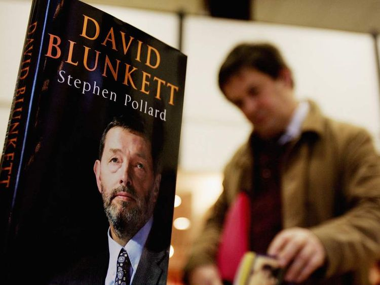 The controversial biography of British Home Secretary David Blunkett goes on sale in 2004