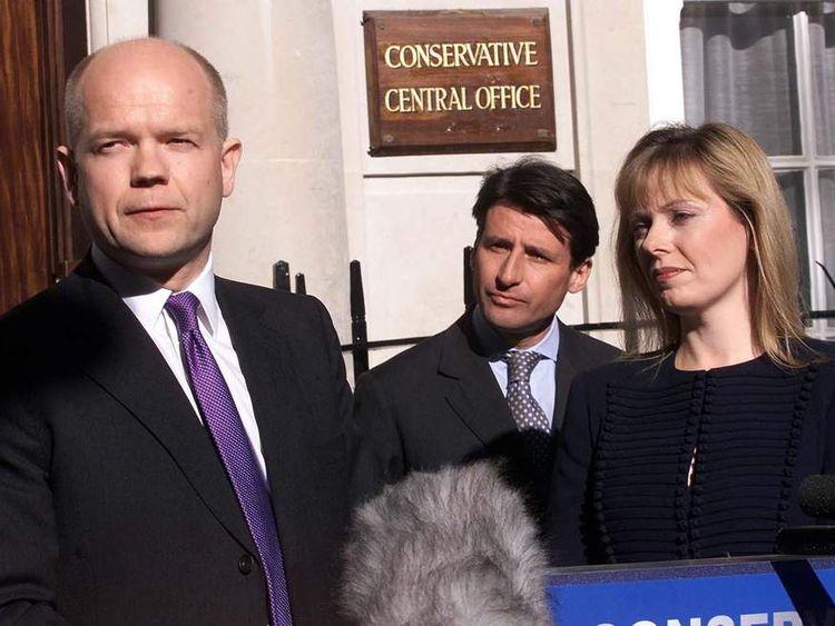 Conservative leader William Hague delivers his 2001 resignation speech