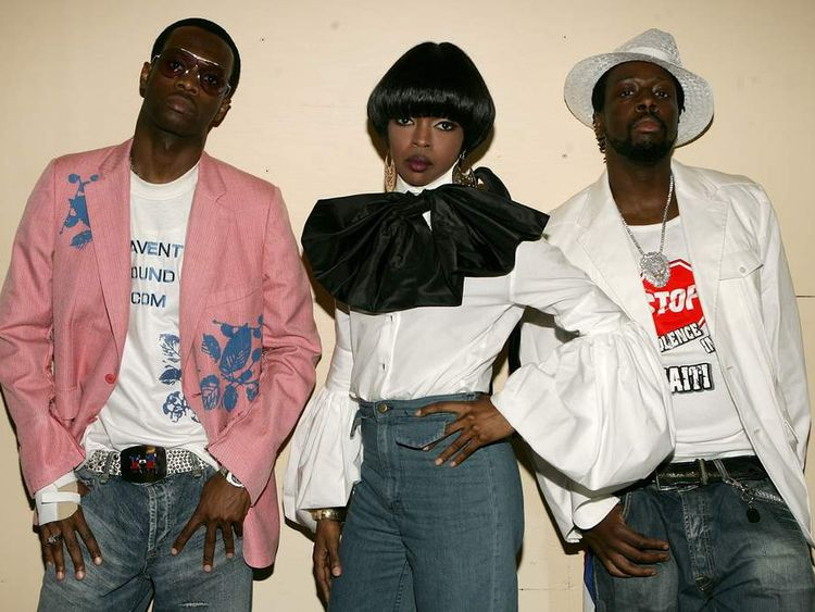 The Fugees: (L-R) Pras Michel, Lauryn Hill and Wyclef Jean