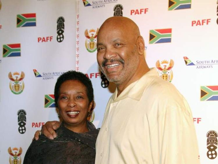 Actor James Avery and his wife, Barbara