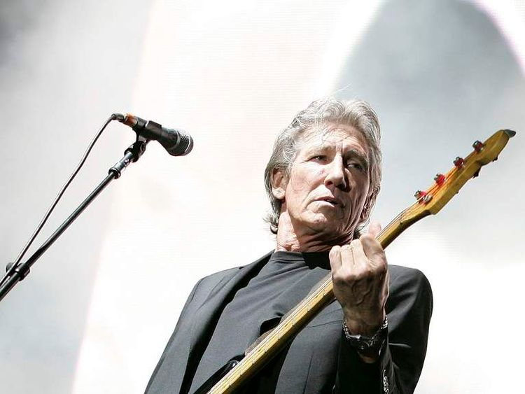 Roger Waters performs during his Dark Side Of The Moon Tour