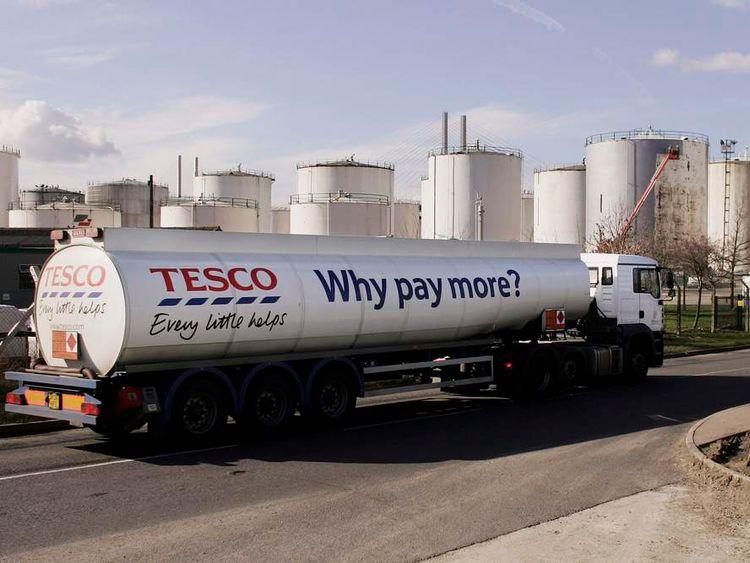Tesco Petrol Truck