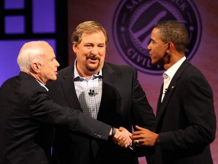 McCain And Obama Attend Campaign Forum At California Mega-Church