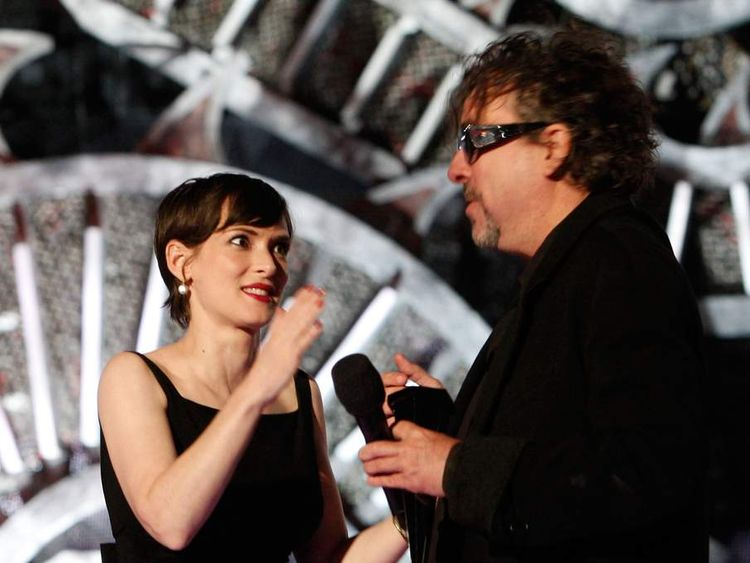Winona Ryder and Tim Burton at the Scream awards in 2008