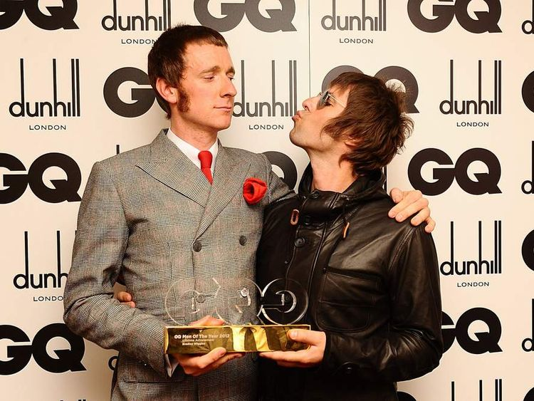 Bradley Wiggins And Liam Gallagher At GQ Awards