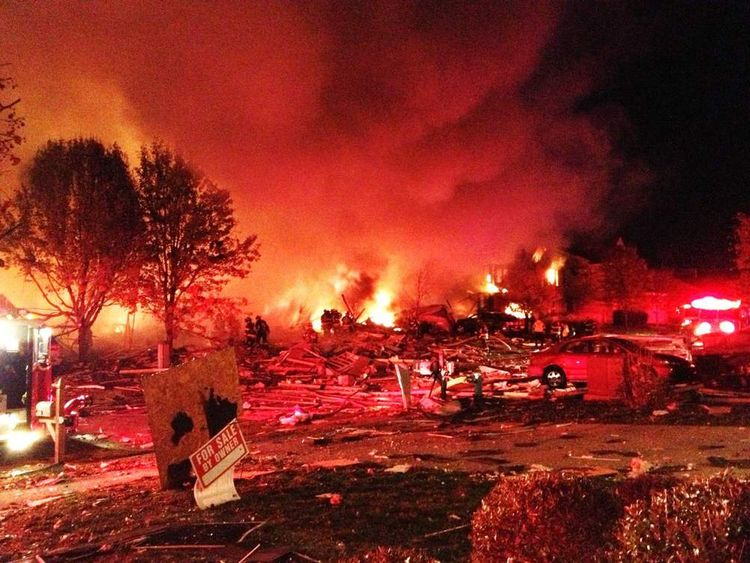 Indianapolis House explosion fire 1
