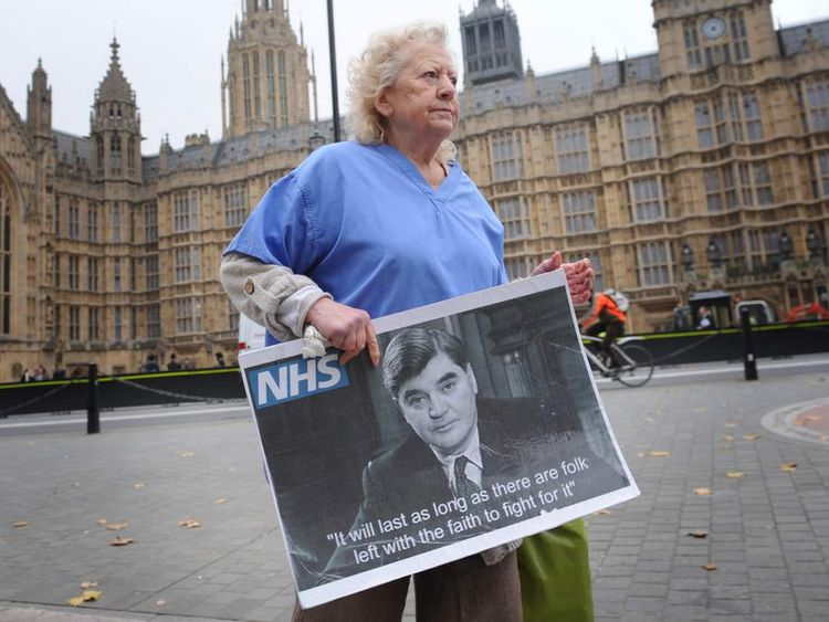 NHS campaigner June Hautot