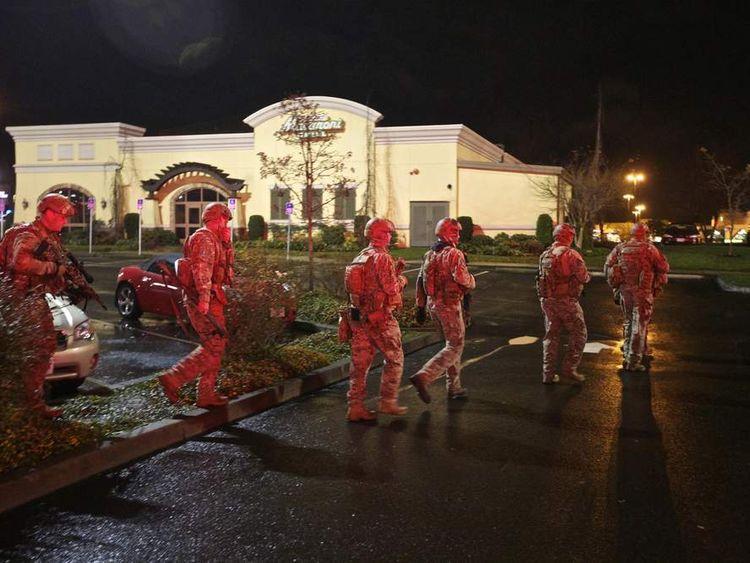 Scene Of Oregon Shopping Centre Shooting