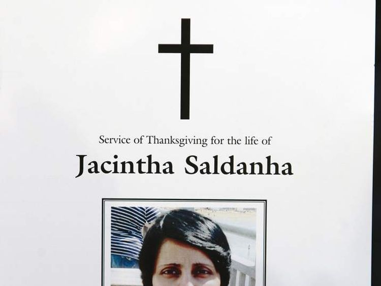 The order of service for a mass held in memory of Jacintha Saldanha held at Westminster Cathedral in central London. PRESS ASSOCIATION Photo. Picture date: Saturday December 15, 2012. See PA story ROYAL Hospital. Photo credit should read: Sean Dempsey/PA Wire