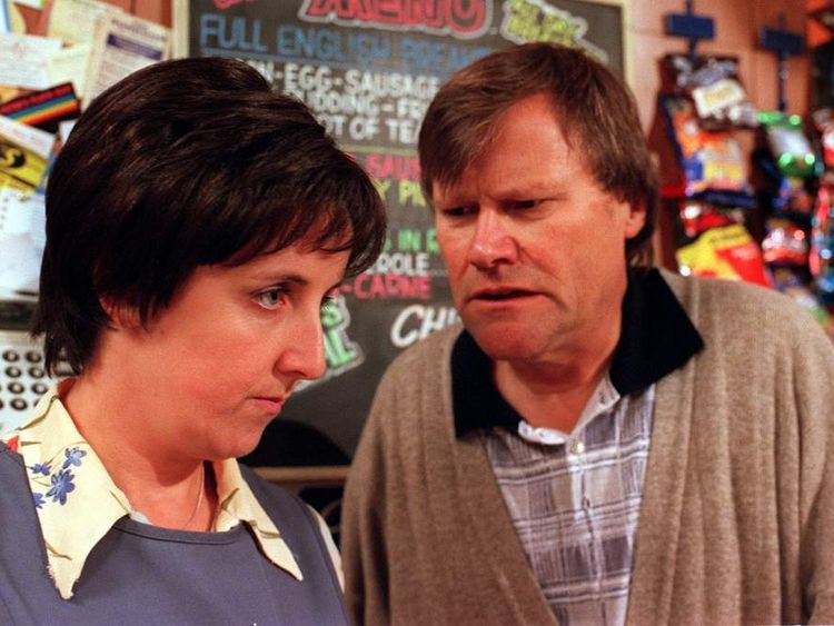 Hesmondhalgh with David Neilson, who plays Roy Cropper