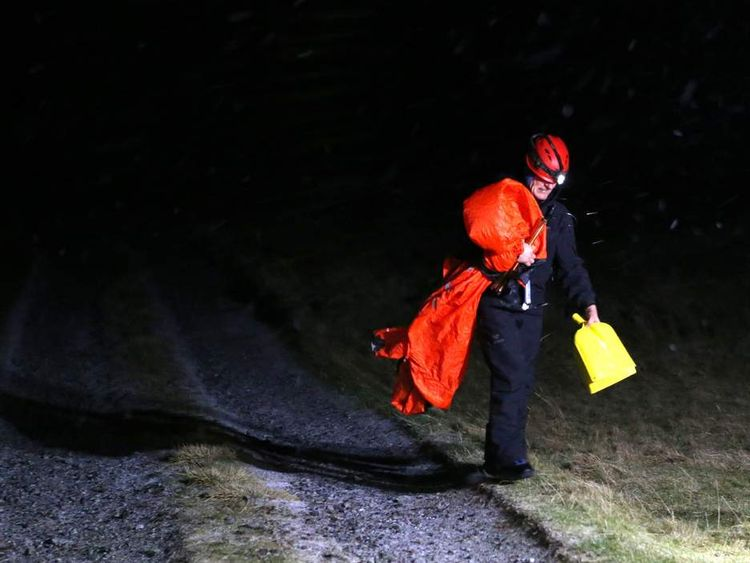 Mountain rescue worker after Glencoe avalanche