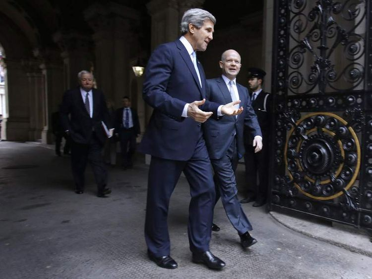 John Kerry and William Hague