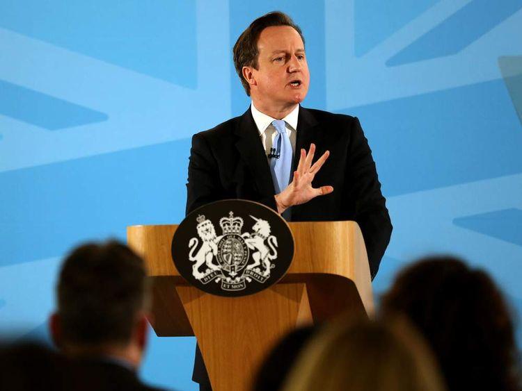 David Cameron speaking in Ipswich