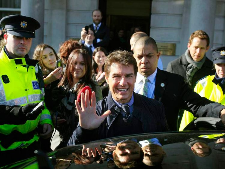 Tom Cruise visits Dublin