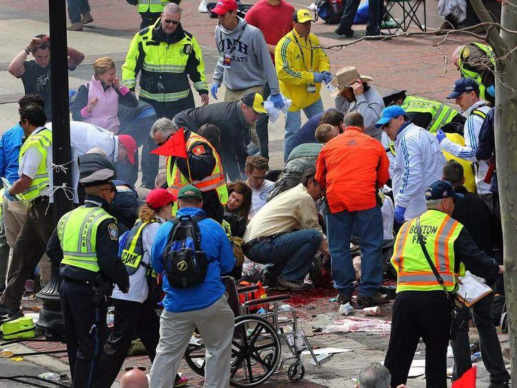 Bombings at end of Boston Marathon