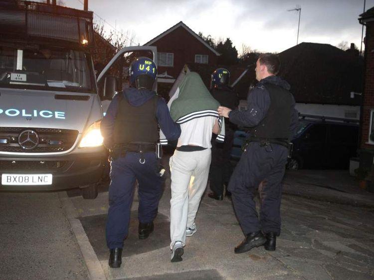 Football violence police raid
