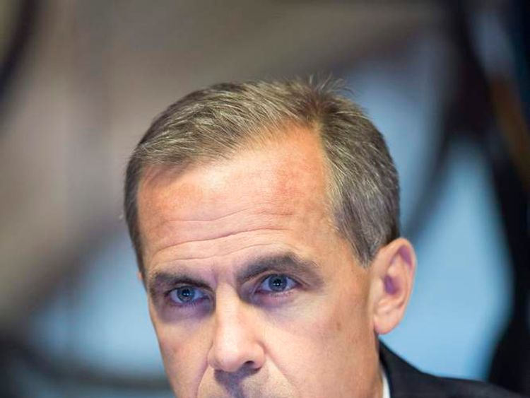 New Bank of England Governor Mark Carney.