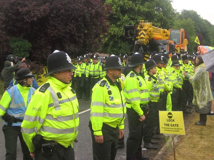 Fracking protest in West Sussex