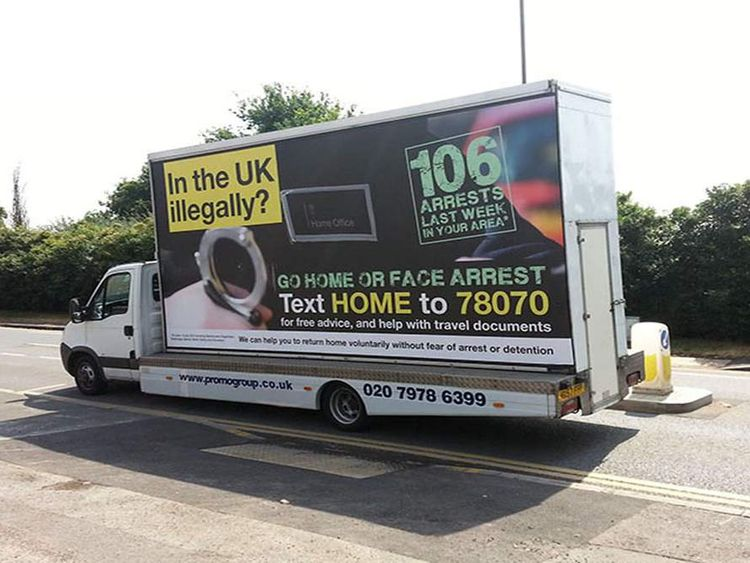 Immigration 'go home' van