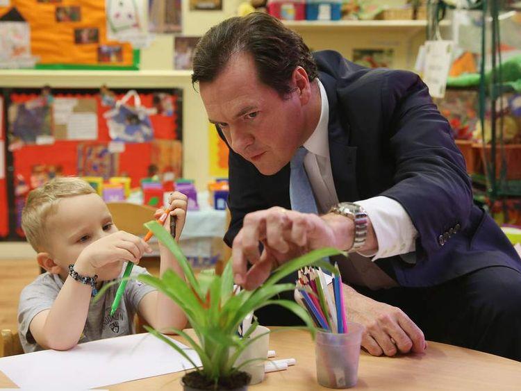 George Osborne nursery visit