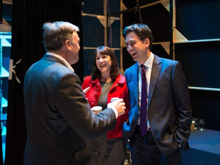 Ed Miliband, Ed Balls and Rachel Reeves in Brighton