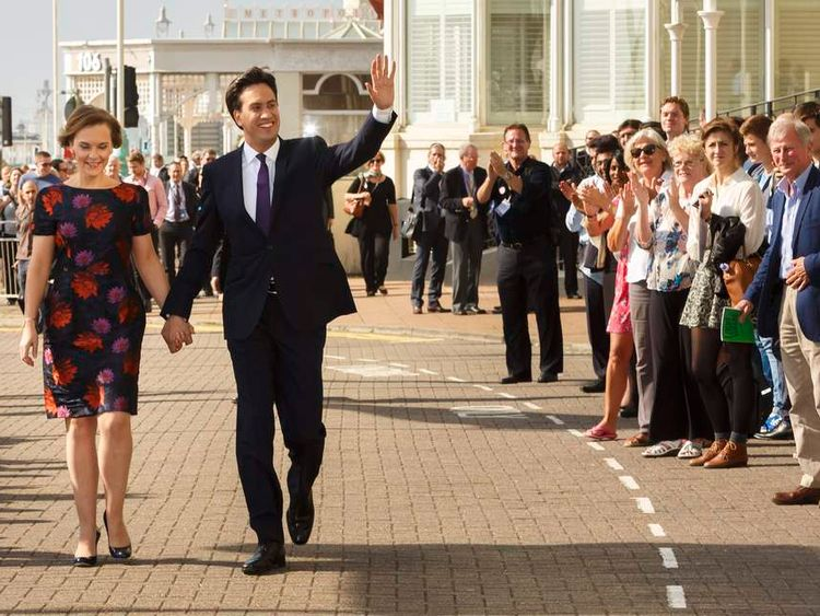 Ed Miliband and Justine