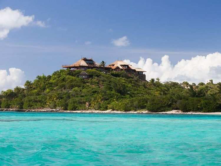 Richard Branson's House on Necker Island rebuilt