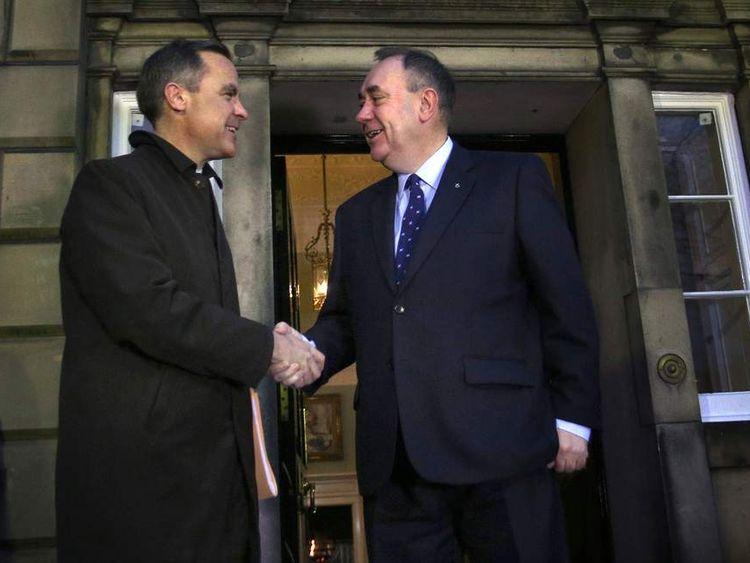 Mark Carney and Alex Salmond