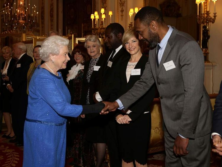 The Queen and Lenny Henry