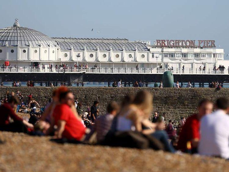 Warm weather in Brighton