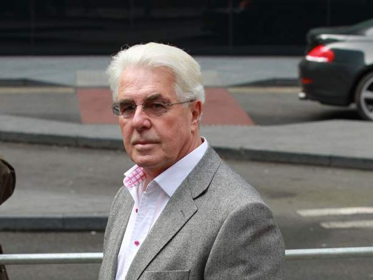 Max Clifford arrives at Southwark Crown Court.
