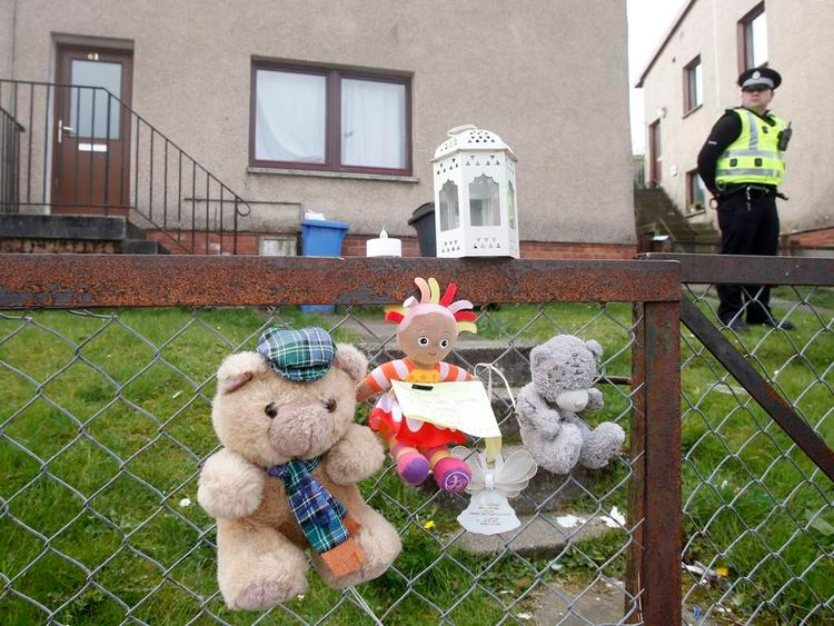 Home where two-year-old Madison Horne died in Kelty, Fife