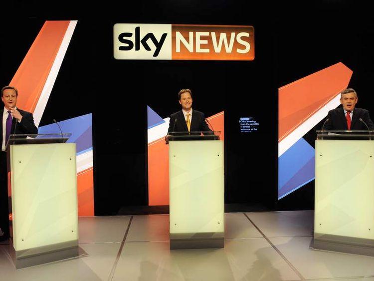 Sky TV debate 2010 Election Campaign