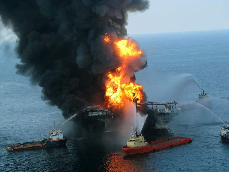 Deepwater Horizon in the Gulf of Mexico