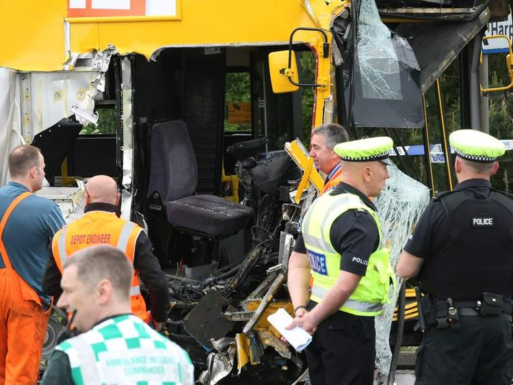 County Durham school bus crash