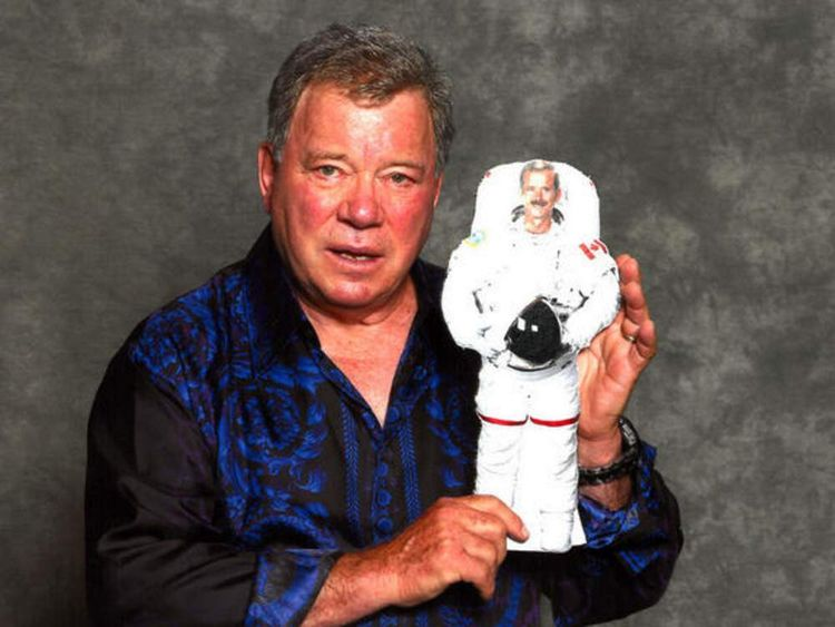 Twitter caption: The last time @WilliamShatner and I met was in another dimension - 2D. (From @csa_asc contest