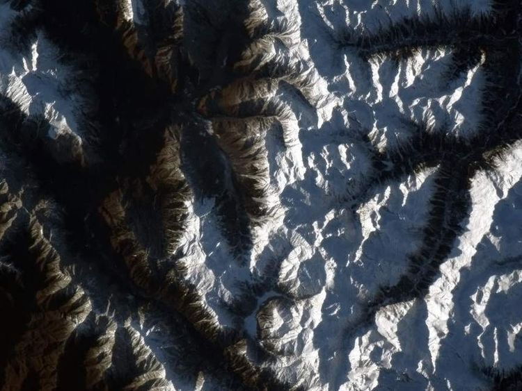 Twitter caption: These mountains near Sochi, Russia remind me somehow of corduroy pillows